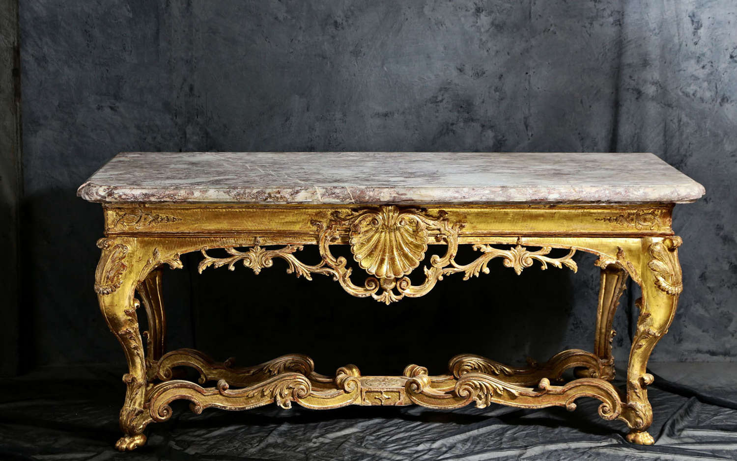 18th century French Regence Giltwood Console Table