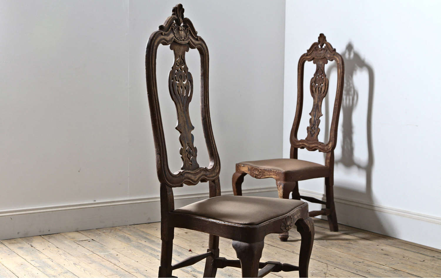 Pair of 18th century Portuguese chairs