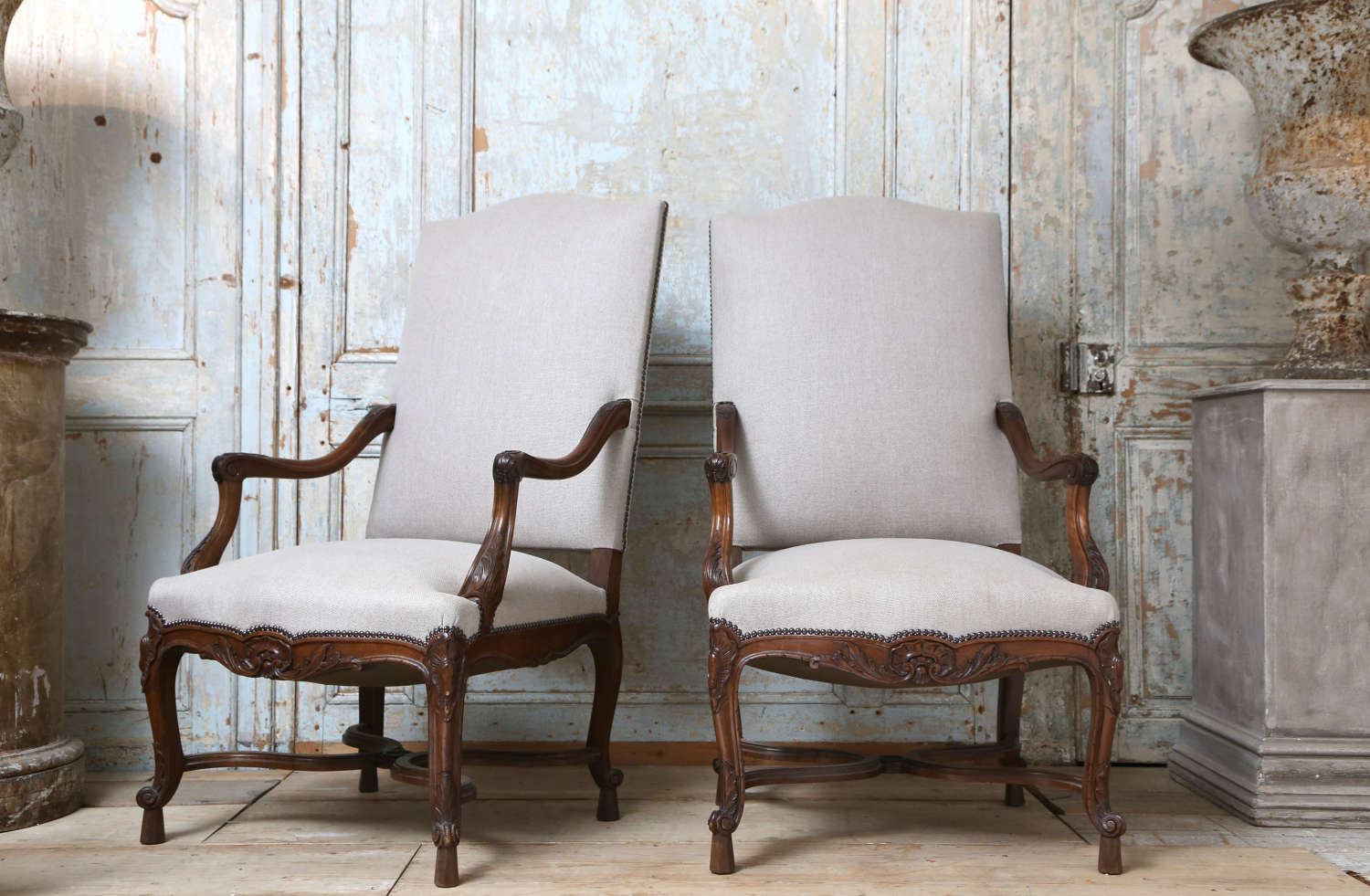 Pair of French Regence armchairs