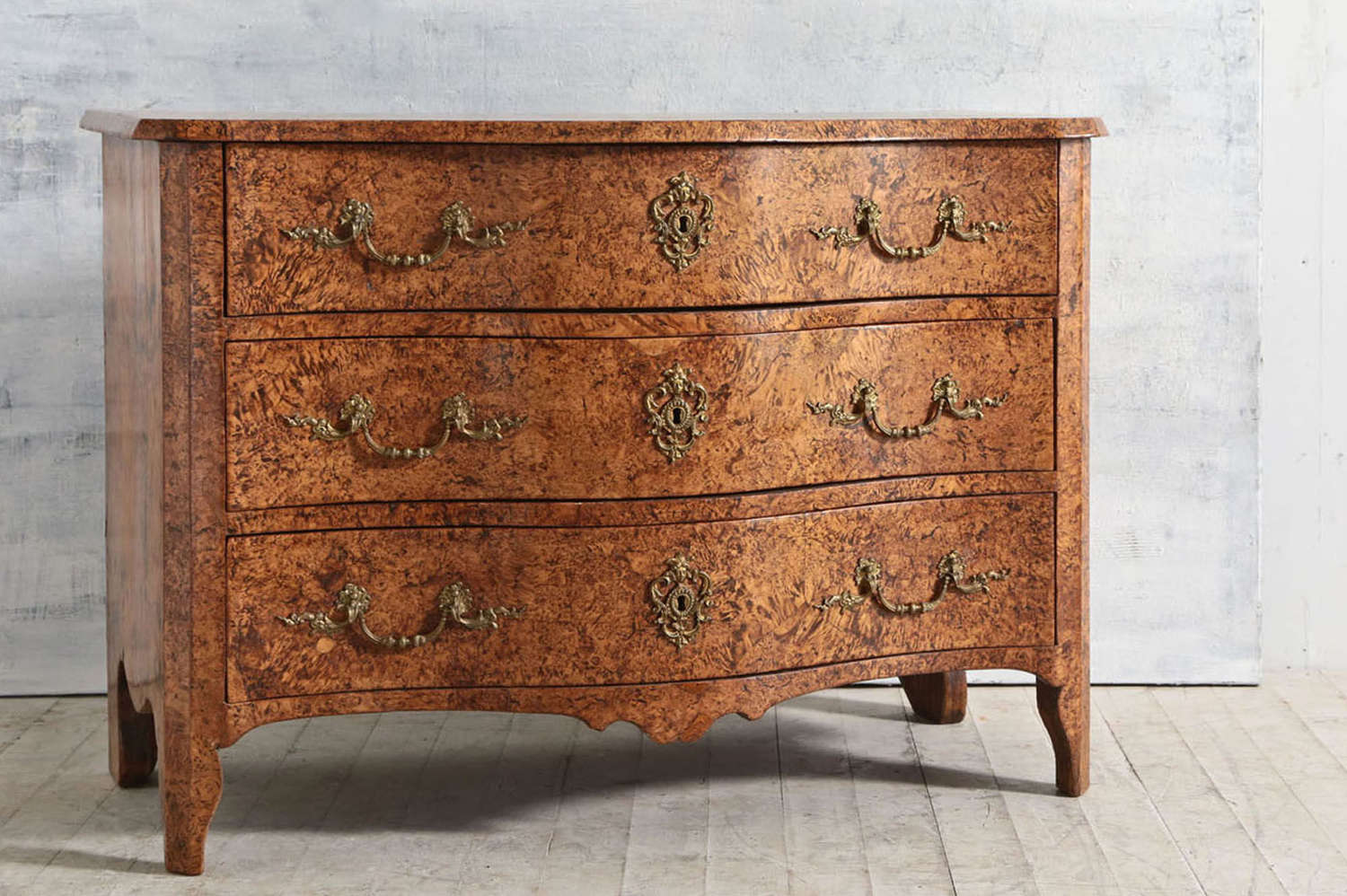 French 18th century French Burr Ash commode
