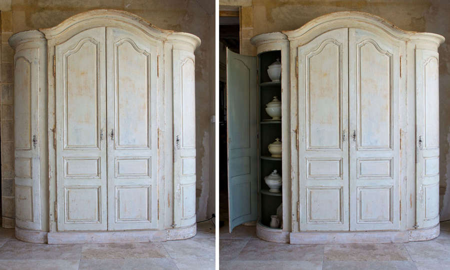 French 18th century barrel ended armoire