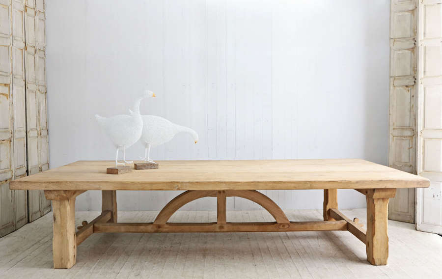 Reproduction French oak pugin table