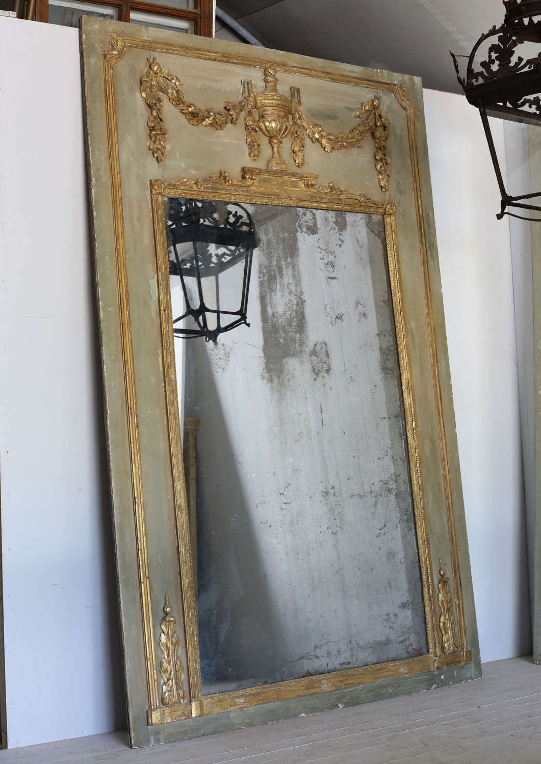 18th century French trumeau mirror