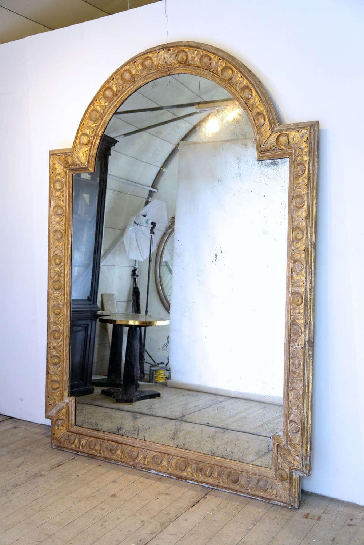 18th century French oak giltwood mirror