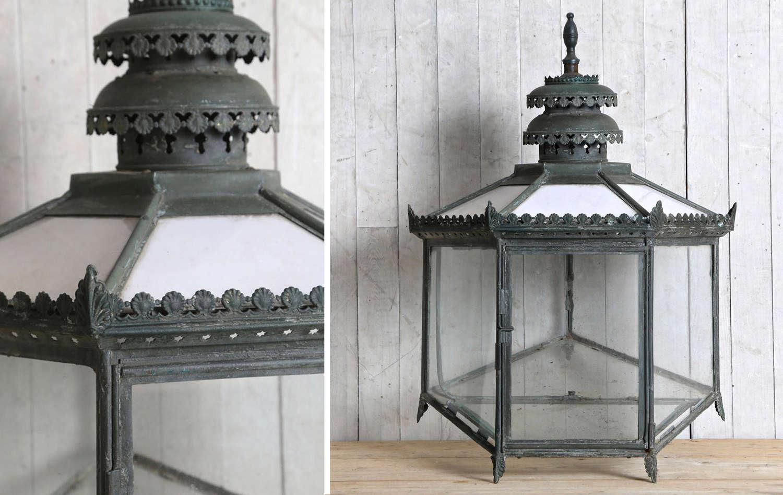 19th century English Regency gas lantern