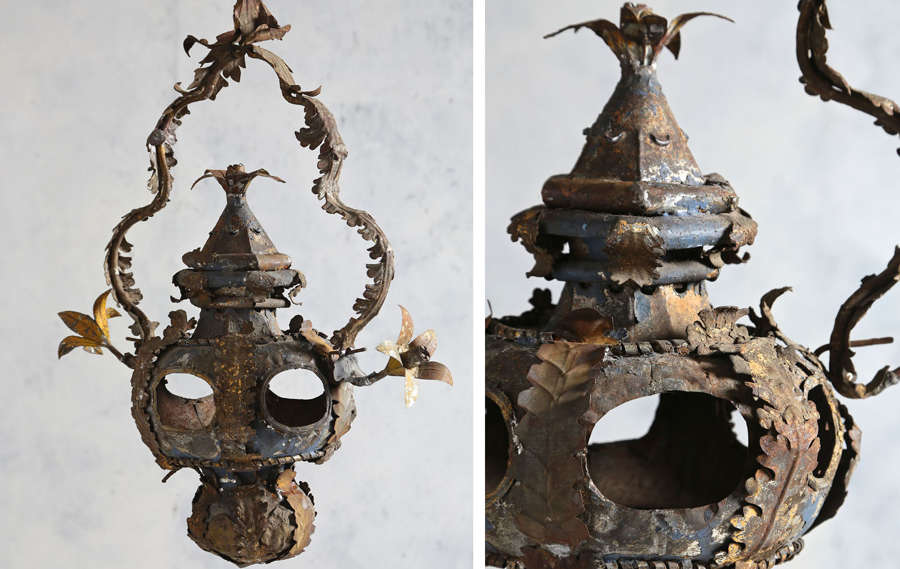 18th century Italian tole church lantern