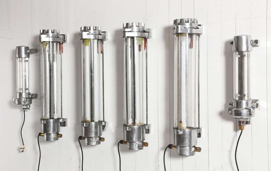 3 Pairs of aluminium ship lights