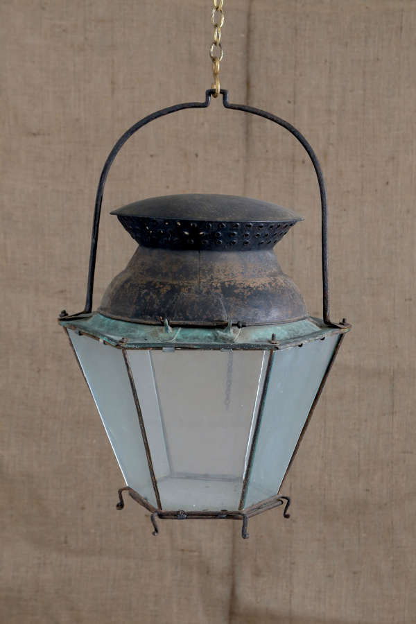 18th century French tole copper lantern