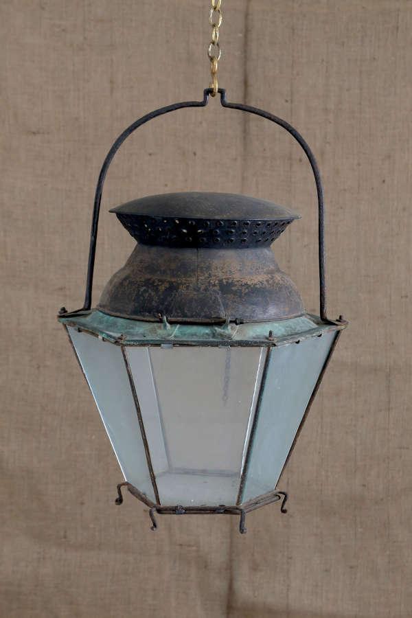 18th century French tole copper lantern