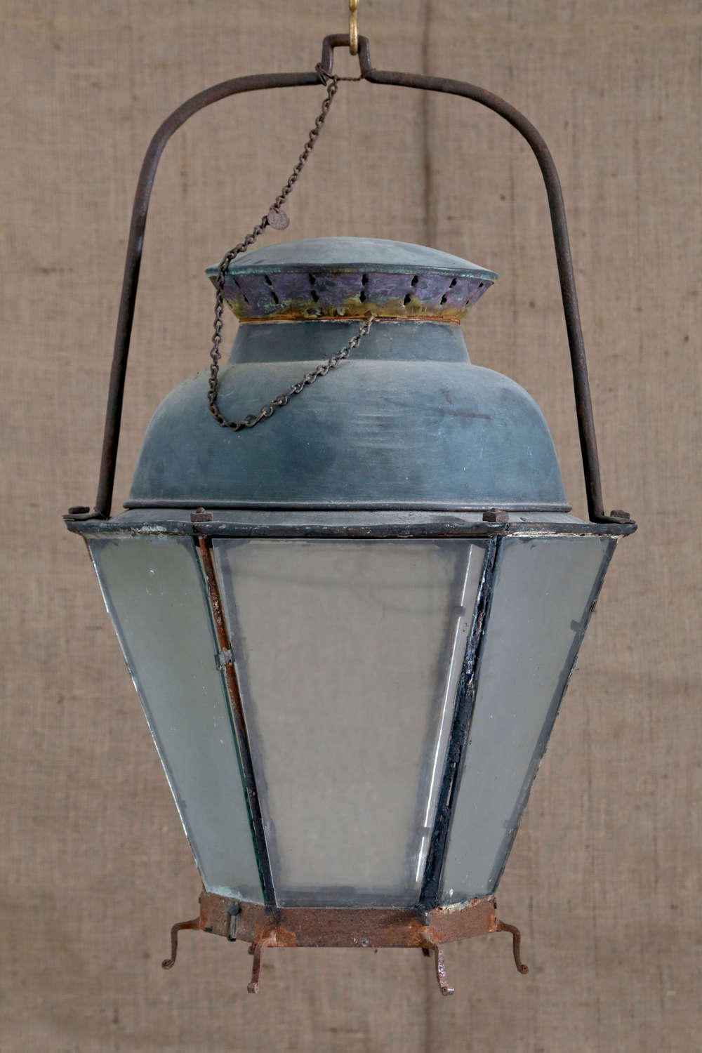 18th century French tole and copper lantern