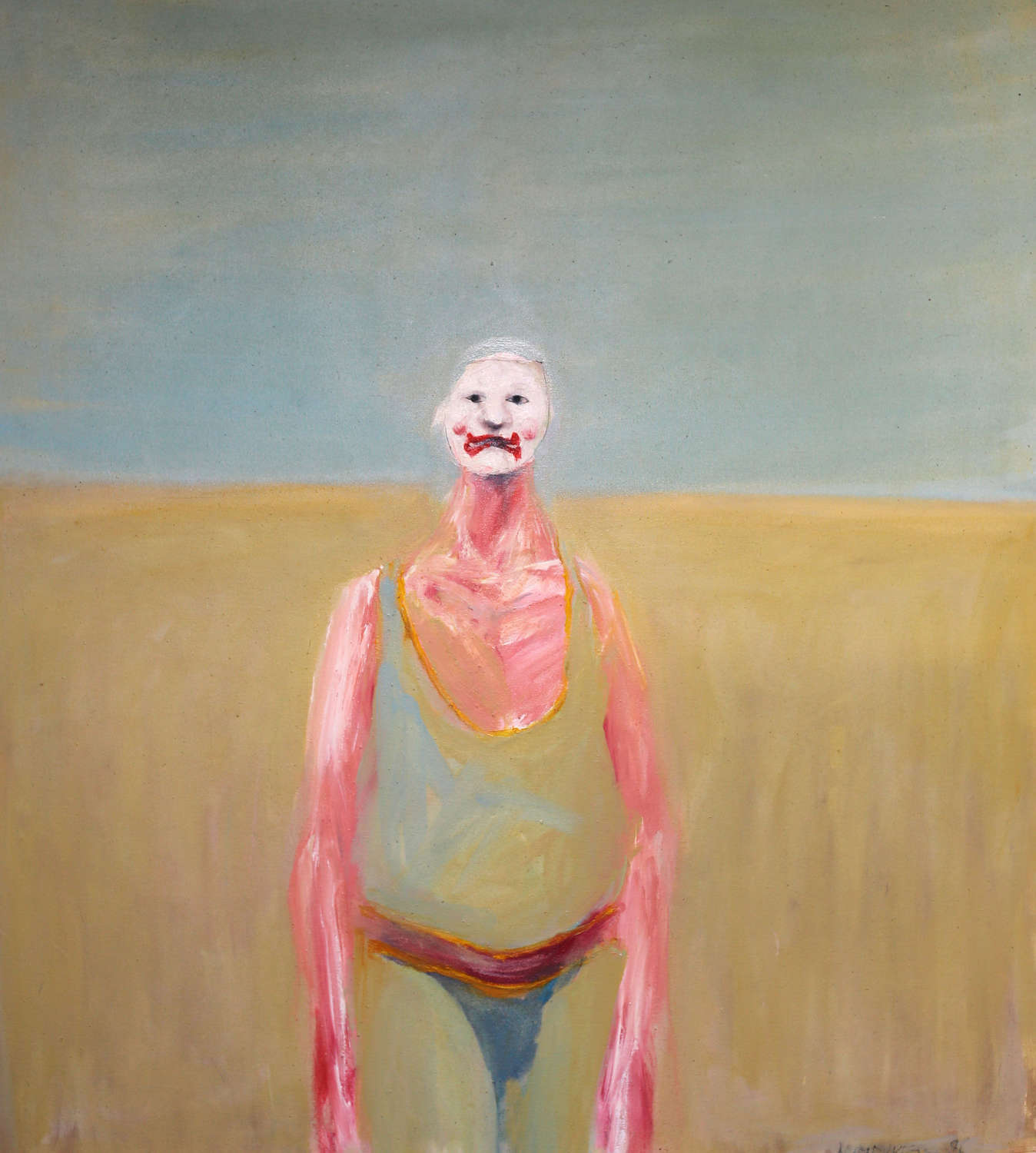 The Clown painting by Ian Humphreys dated 1986