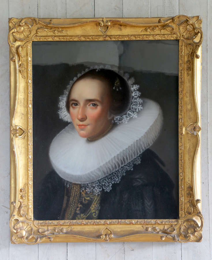 19th century pastel portrait of a Dutch lady