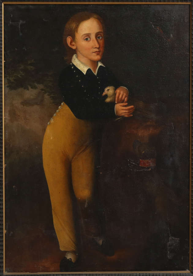 19th century portrait of a young boy
