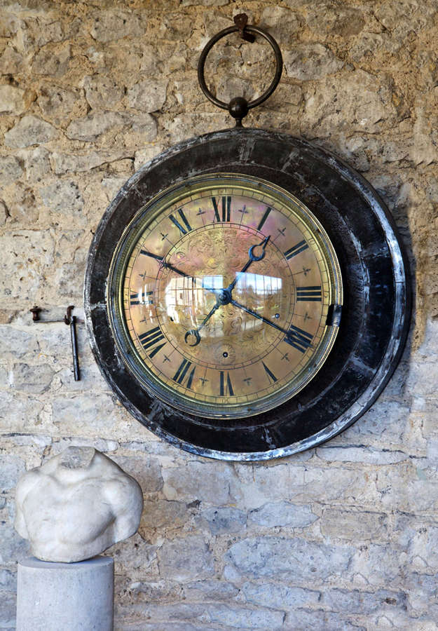 19th century French bank wall clock by Peste a Paris