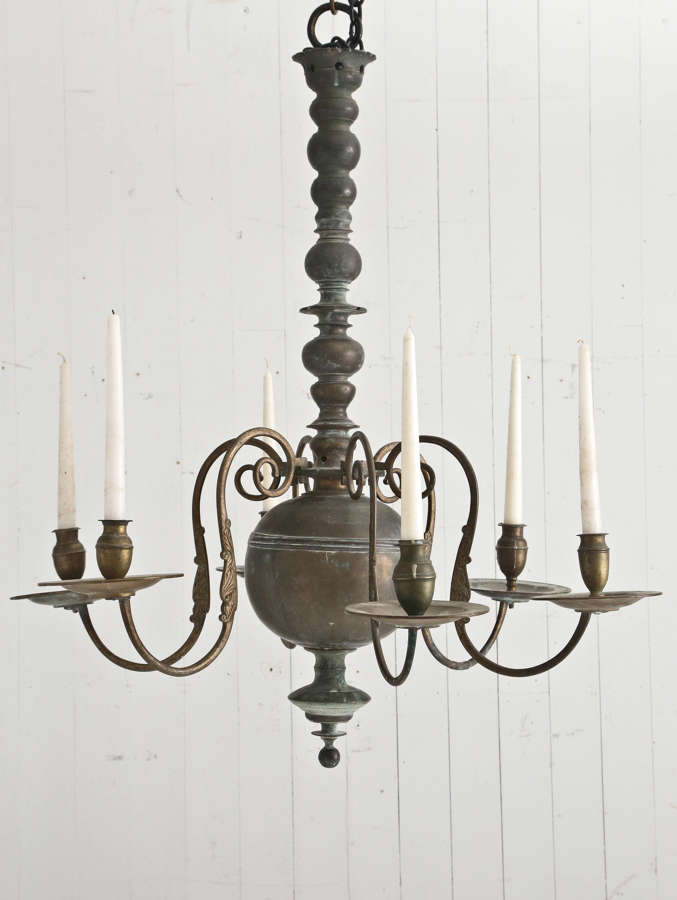18th century Flemish Bronze Chandelier