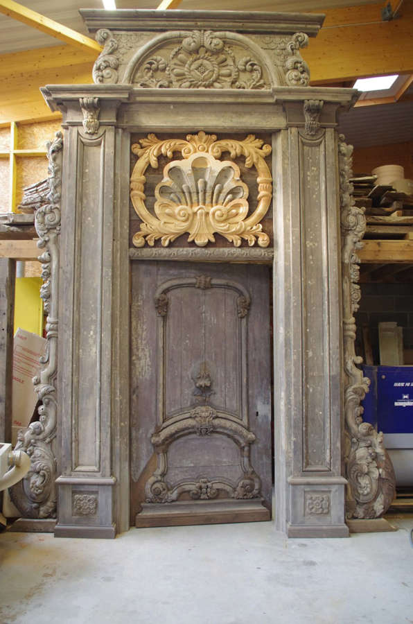 17th century Monumental Baroque Door