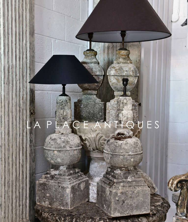 18th/19th century French Stone lamps