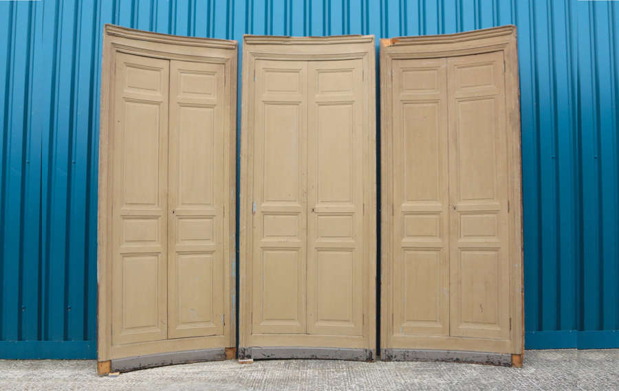 Set of 3 curved 19th century French curved doors