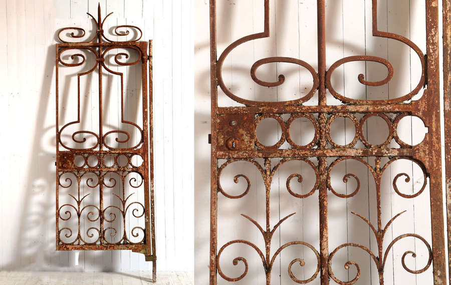19th century wrought iron garden gate