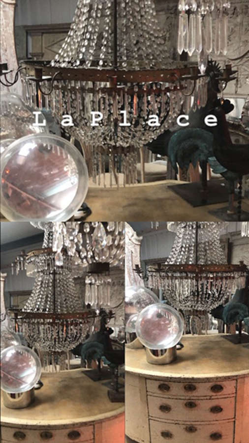 19th century Italian crystal glass chandelier