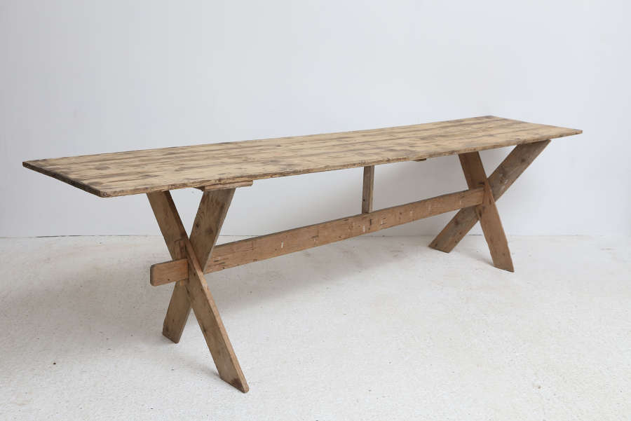 20th century French Pine Serving Table