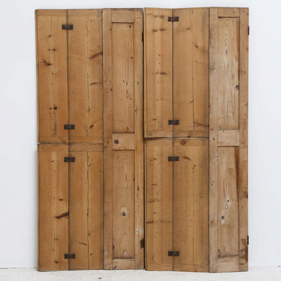 2 Pairs of English 19th century Pine Shutters