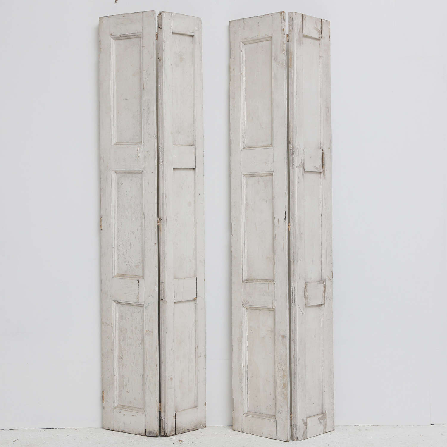 Pair of 19th century Painted Pine Shutters