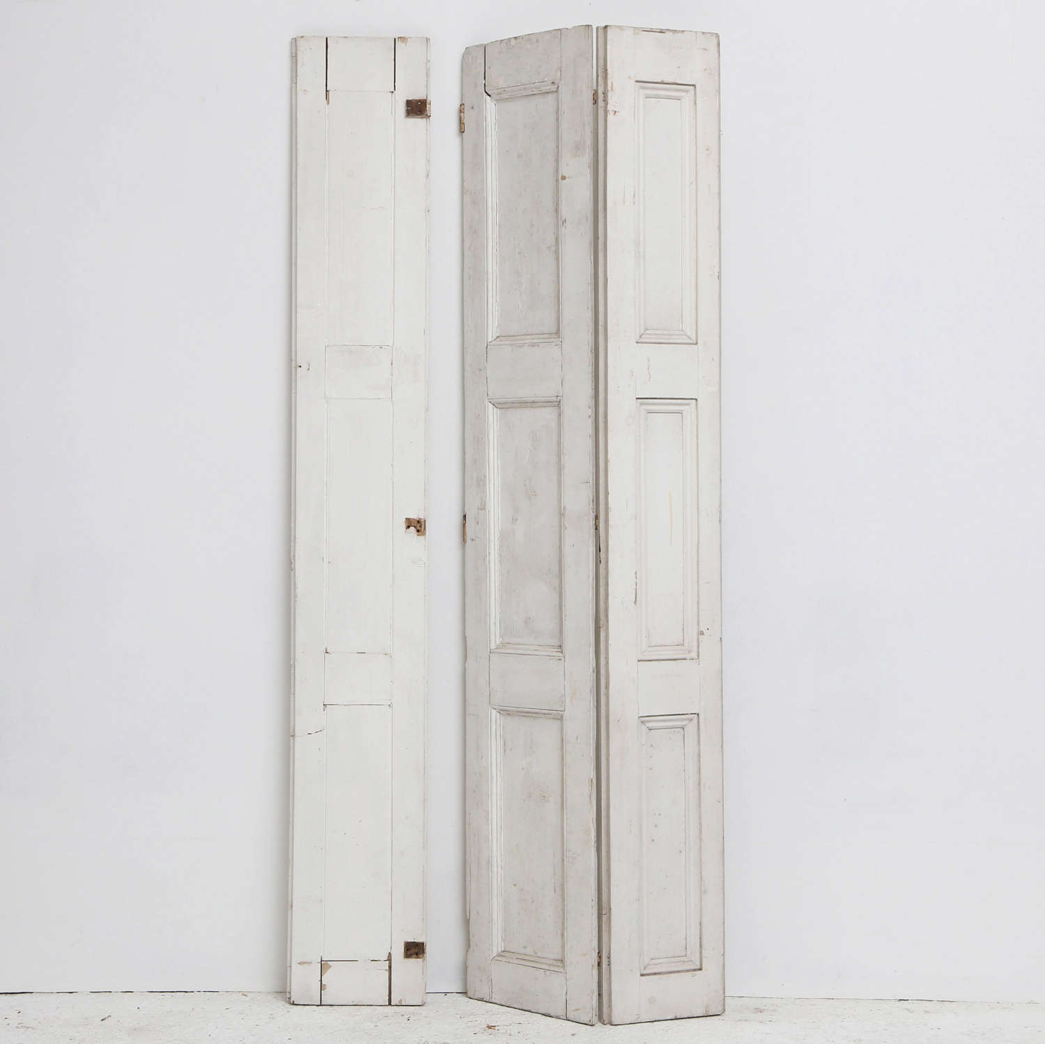 19th century Painted Pine shutter with extra panel