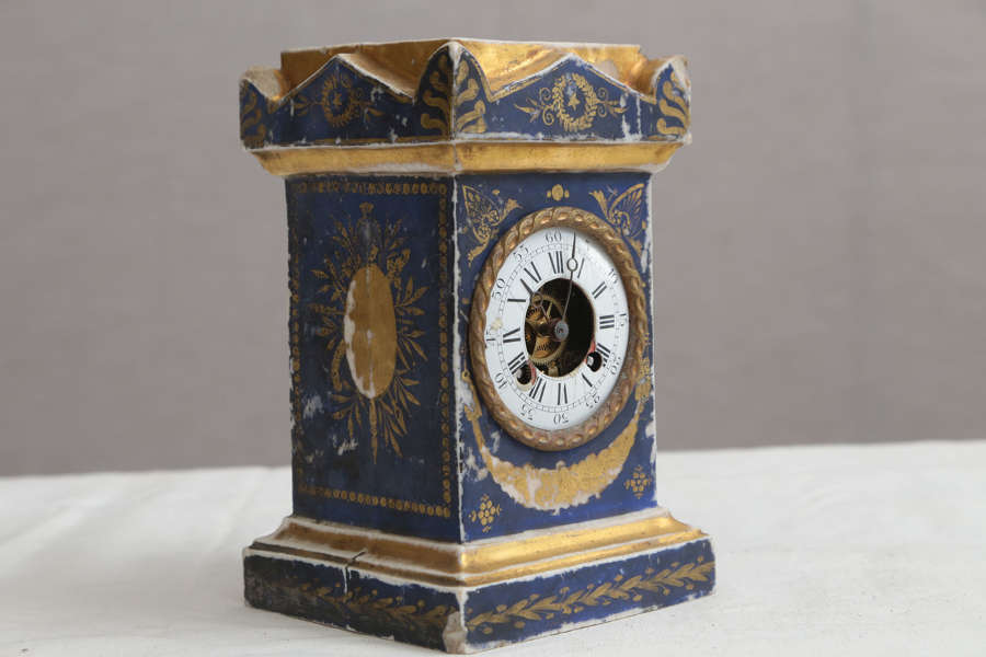 Early 19th century Decorative French Ceramic Clock