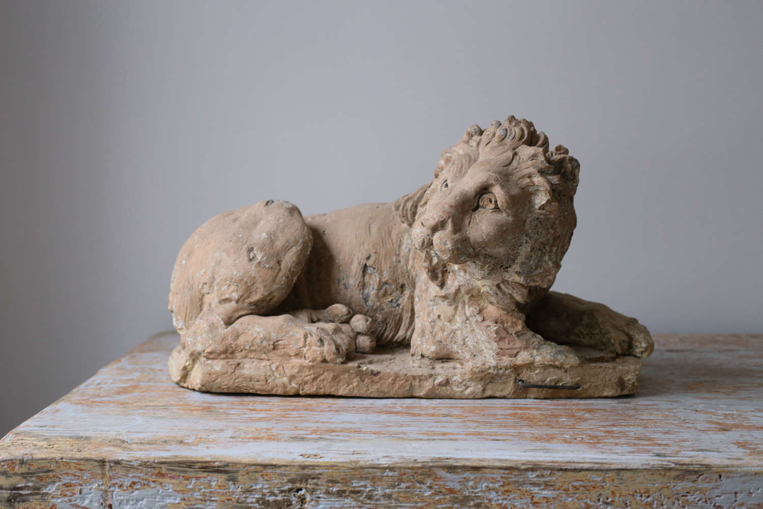 18th century French Terracotta Lion
