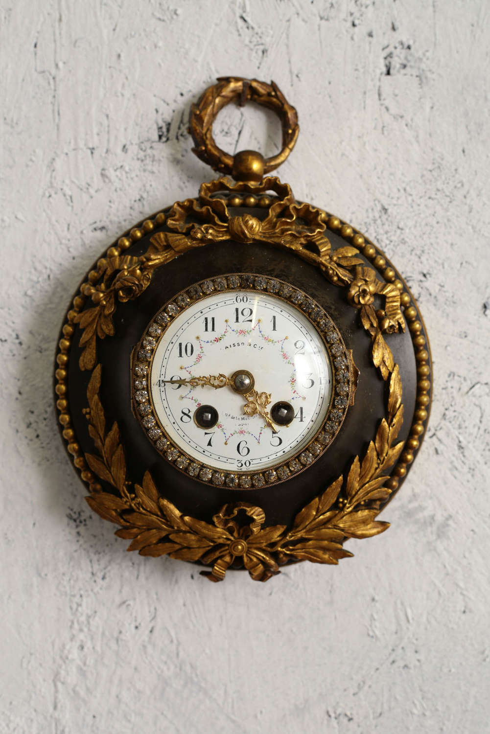 19th century French Decorative wall clock