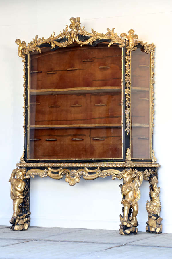 18th Century Italian Baroque Display Cabinet